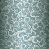 Seamless curl floral background. vector illustration