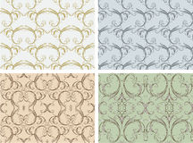 Seamless curled patterns Stock Photography