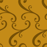 Seamless curled repeat pattern Royalty Free Stock Photography