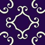 Seamless curled repeat pattern Royalty Free Stock Photo