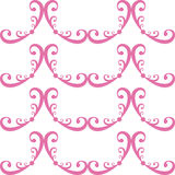 Seamless curled repeat pattern Stock Photos