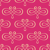 Seamless curly swirl antique motif Stock Photos