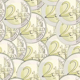 Seamless  currency 2 euro coin Stock Photos