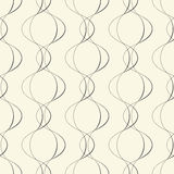 Seamless Curved Line Pattern. Black and White Regular Abstract F Royalty Free Stock Photography