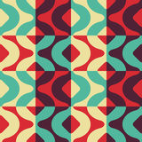 Seamless Curved Shape Pattern Royalty Free Stock Photo