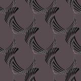 Seamless curved stripes pattern dark gray brown black diagonally Stock Photo