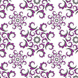 Seamless of curwed violet pattern Royalty Free Stock Images