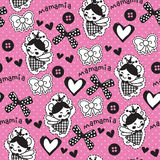 Seamless cute angel princess pattern vector illustration Stock Photos