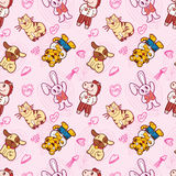 Seamless cute animal pattern Royalty Free Stock Photography