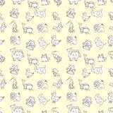 Seamless cute animals pattern Stock Image