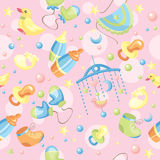 Seamless cute baby background Stock Images