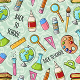 Seamless cute back to school pattern Stock Photography