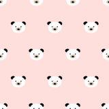 Seamless cute bear pattern Stock Photos