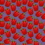 Seamless cute bell pepper pattern Royalty Free Stock Image