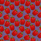 Seamless cute bell pepper pattern Stock Photography