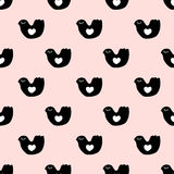 Seamless cute bird pattern Royalty Free Stock Images