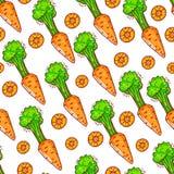 Seamless cute carrots Royalty Free Stock Photo