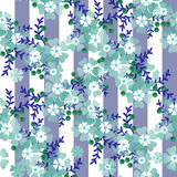 Seamless cute cartoon flowers pattern background Royalty Free Stock Photo