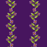 Seamless cute cartoon kids flowers pattern background Royalty Free Stock Photography