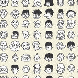 Seamless cute cartoon pattern Stock Image