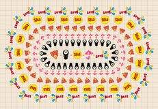 Seamless cute cartoon pattern vector Royalty Free Stock Image