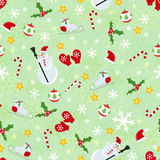 Seamless cute christmas pattern Stock Images