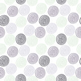 Seamless cute circle background Stock Image