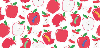 Seamless cute colorful apple pattern in vector Stock Photos