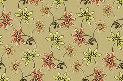 Seamless cute colorful floral pattern royalty free illustration