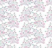 Seamless cute colorful floral wallpaper Royalty Free Stock Photography