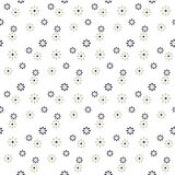 Seamless cute daisy flower pattern background. Royalty Free Stock Photos
