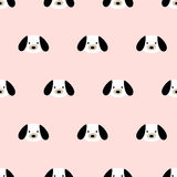 Seamless cute dog pattern. Seamless pattern,cute dog art  background design for fabric and decor Royalty Free Stock Image