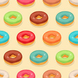 Seamless cute donuts Royalty Free Stock Photo