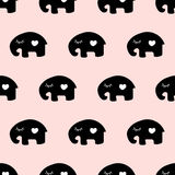 Seamless cute elephant pattern. Seamless pattern,cute elephant art  background design for fabric and decor Stock Photography