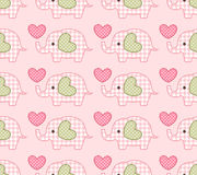 Seamless cute elephant pattern Royalty Free Stock Photos