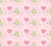 Seamless cute elephant pattern Royalty Free Stock Photos