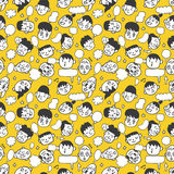 Seamless cute face pattern Stock Images