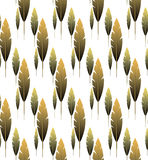 Seamless cute feather boho pattern. Vector seamless cute feather boho pattern Stock Photos