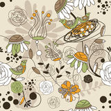 Seamless cute floral background Royalty Free Stock Images