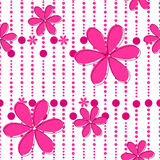 Seamless cute floral background Royalty Free Stock Photo