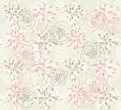 Seamless cute floral pattern vector illustration