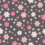 Seamless cute floral pattern. Vector background. Flowers wrapping paper, textile template Royalty Free Stock Photo