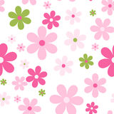 Seamless cute floral pattern. Vector background. Flowers wrapping paper, textile template Royalty Free Stock Photography
