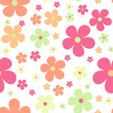 Seamless cute floral pattern. Vector background. Flowers wrapping paper, textile template Stock Photography