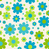 Seamless cute floral pattern. Vector background. Flowers wrapping paper, textile template Stock Images