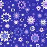 Seamless cute floral pattern. Vector background. Flowers wrapping paper, textile template Royalty Free Stock Image
