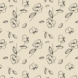 Seamless cute flower pattern. Royalty Free Stock Images