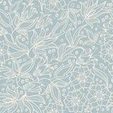 Seamless cute flower vector pattern. Stock Photos