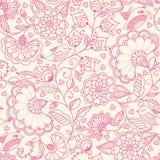 Seamless cute flower vector pattern. Stock Photo
