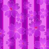 Seamless cute flowers pattern purple background Stock Image